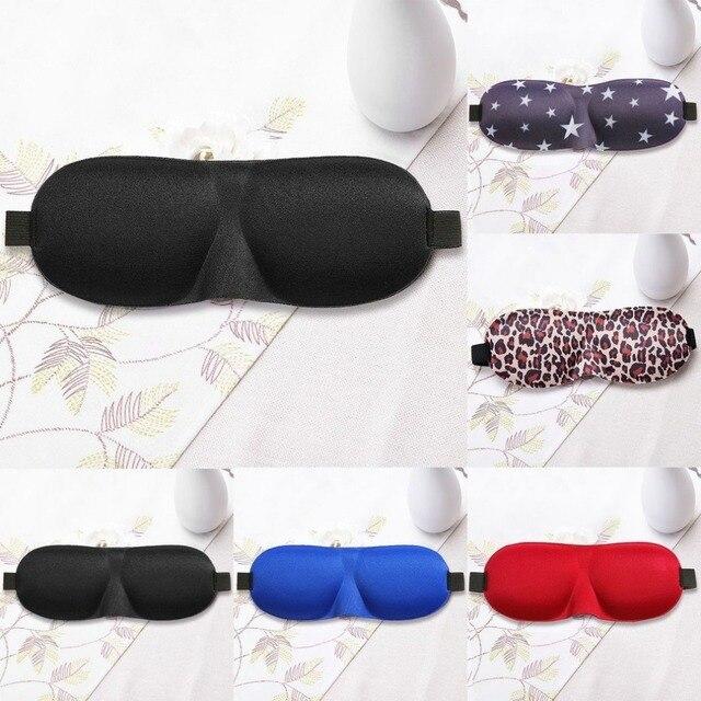 Bouchon doreille pour vol voyage travail 1pc éponge vue dormir masque pour les yeux cache-yeux bandeau bouclier lunettes de sommeil rebond lent