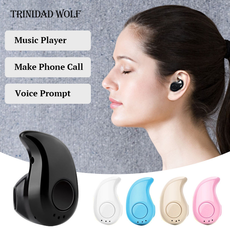 Trinidad Wolf Mini Wireless in ear Earpiece Earphone Earbud S530 Sports Bluetooth4.1 hands free Headset Stereo for iphone mini wireless bluetooth earphone s530 in ear earpiece blutooth headset stereo headphones for android and iphone 7 6