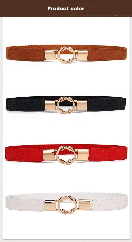 1 (3)Adjustable Women Belts Fashion PU 4 Colors Windbreaker Waist Band Thin Elastic Waist Belt Dress Apparel Accessories Hot Sale