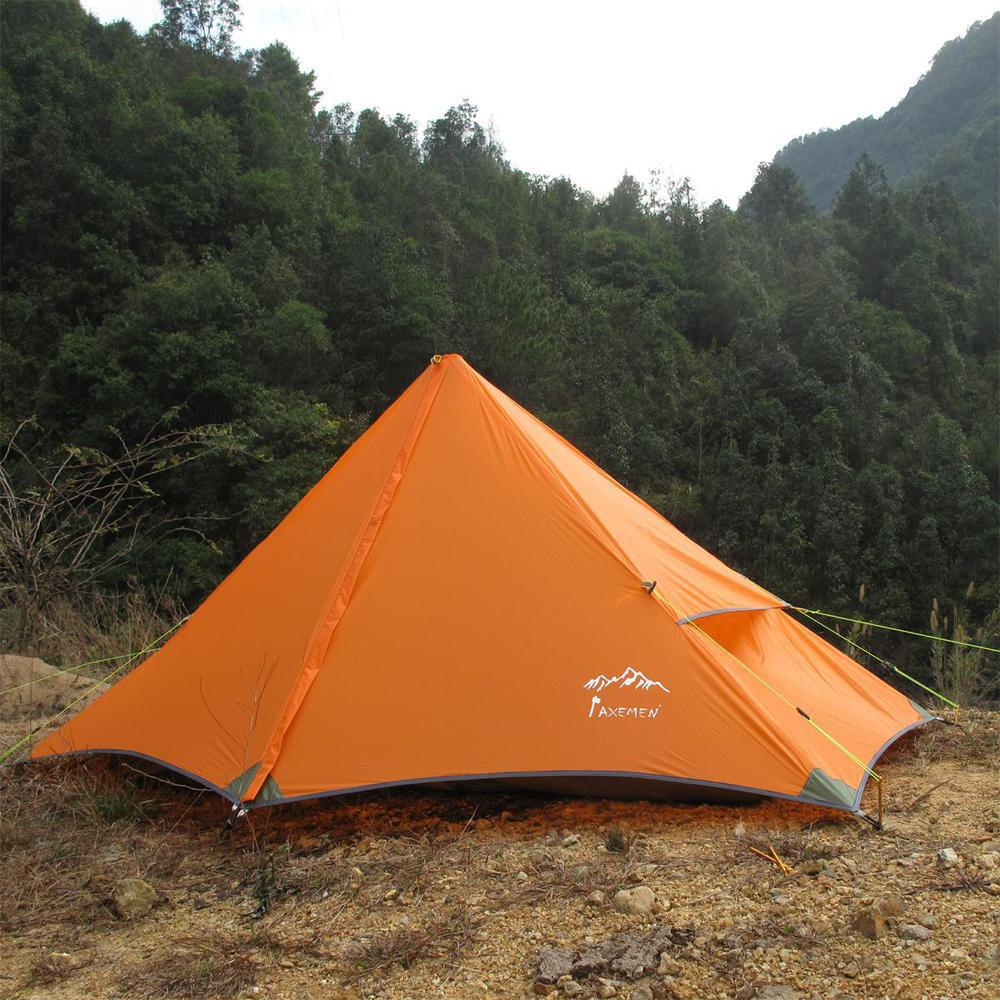 High quality silicon 4season ultralight Eisman original pyramid single rodless lightweight mountain tent single suicide 995g camping inner tent ultralight 3 4 person outdoor 20d nylon sides silicon coating rodless pyramid large tent campin 3 season