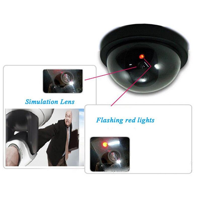 Наружная внутренняя камера видеонаблюдения Купольная поддельная камера с мигающим красным светодиодным освещением CCTV аксессуары для безо...