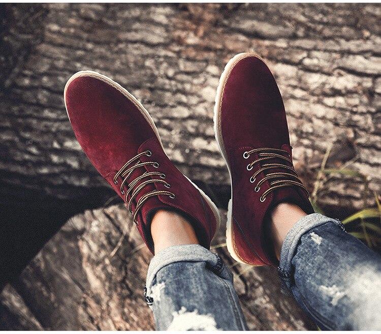 Herren Schuhe Seien Sie Freundlich Im Gebrauch Große Größe Männer Leder Reitstiefel Hohe Leder Schuhe Retro Kurze Stiefel Britischen Chelsea Stiefel Männlichen Flut Schuhe