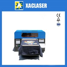 Personal shop dedicated A3 format T-shirt printer uv flatbed printer High speed a3 size dtg flatbed printer printing machine a3 uv flatbed for t shirts phone case pvc card dark light color printing