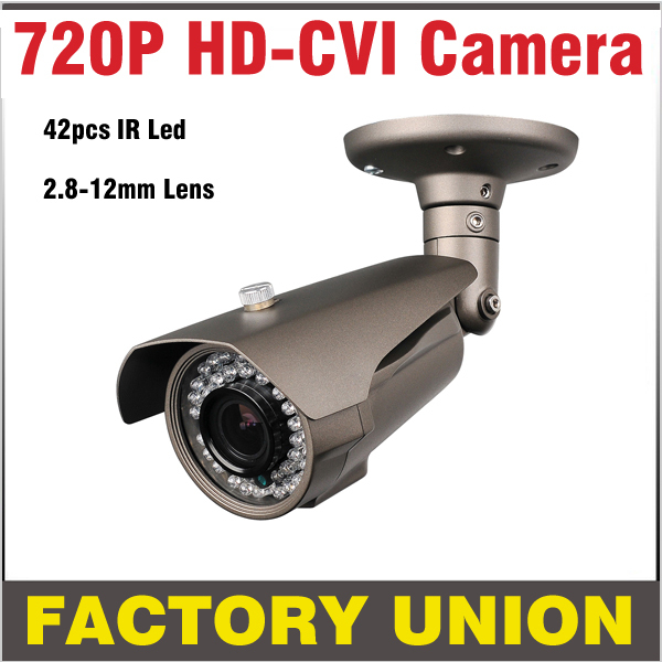 HD CVI Camera Systems 1.0MP 720P 42pcs IR LED 2.8-12mm Lens Security Camera System Outdoor Night Vision Camera Surveillance hd cvi array ir outdoor bullet security camera 6mm lens 1 0 mp night vision