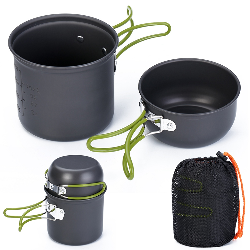 Mayitr Camping Non-stick Cookware Set Cooking Bowl Pots Pans for Outdoor Travel Camping Hiking Happy Picnic High QualityMayitr Camping Non-stick Cookware Set Cooking Bowl Pots Pans for Outdoor Travel Camping Hiking Happy Picnic High Quality