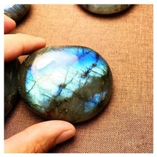 IHOMEE Colorful Natural Moonlight Stone Crystal Labradorite Nunatak Grey Shining Moonstone Decoration Crafts New Year Home Decor
