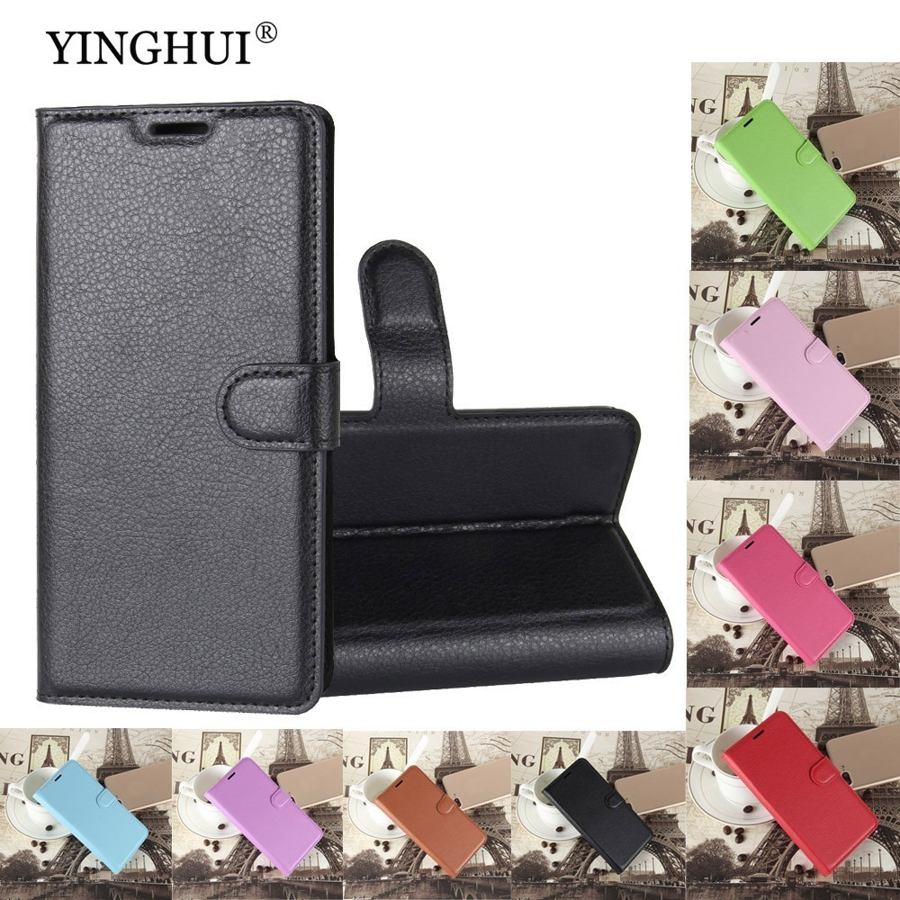 YINGHUI For Leagoo M5 Case 5.0 inch Luxury Wallet PU Leather Back Cover Phone Case For Leagoo M5 Flip Protective Bag Skin