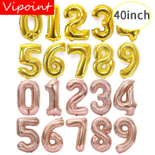 VIPOINT PARTY 40inch rose gold silver number foil balloons wedding event christmas halloween festival birthday party HY-53
