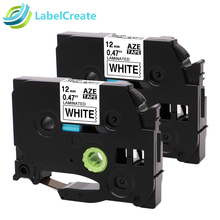 2 Packs Compatible for Brother Label Printer Tape TZe231 TZe-231 12mm Black on White Brother P-touch Label Maker Label Printer