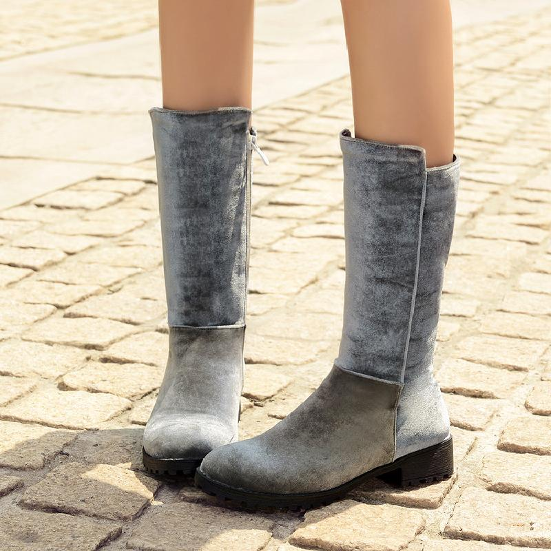 snow boots winter boots women corduroy female plus size autumn shoes woman grey black mid-calf boot 2017 free shipping &9725 rome style cool designed woman motorcycle boots winter autumn women flats boots top quality mid calf boots shoes free shipping