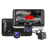 4.5 inch Screen 360 Degree Panoramic Car DVR Camera Dual Lens Night Vision Loop Recording Parking Monitoring Dual DVR Camera