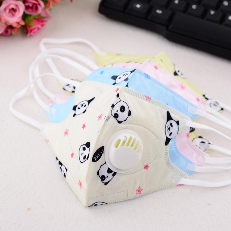 30pcs Cartoon Children PM2.5 Mouth Mask Kids Breath Valve Anti Haze Breathable Mask Anti Dust Mouth-muffle Respirator Face Masks
