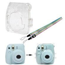Przezroczysta kamera plastikowa powłoka skrzynki pokrywa torba dla Fuji Fujifilm Instax Mini 8