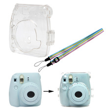 Şeffaf kamera plastik kabuk kılıf kapak çanta için Fuji Fujifilm Instax Mini 8