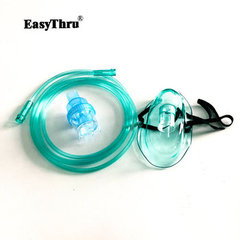 5pcs Steaming Device Accessories Atomization mask Medical Household Nebulizer with Cup Mouthpieces Adult Child Aerosol Mask