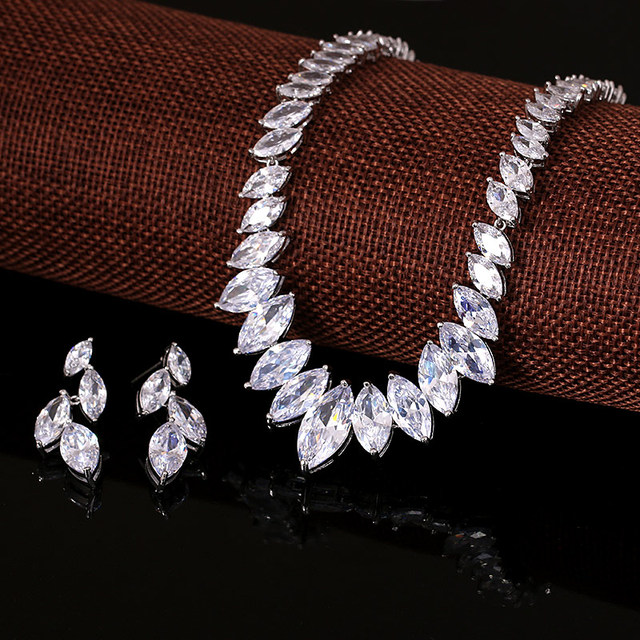 Sparkling Cubic Zirconia Necklace Set