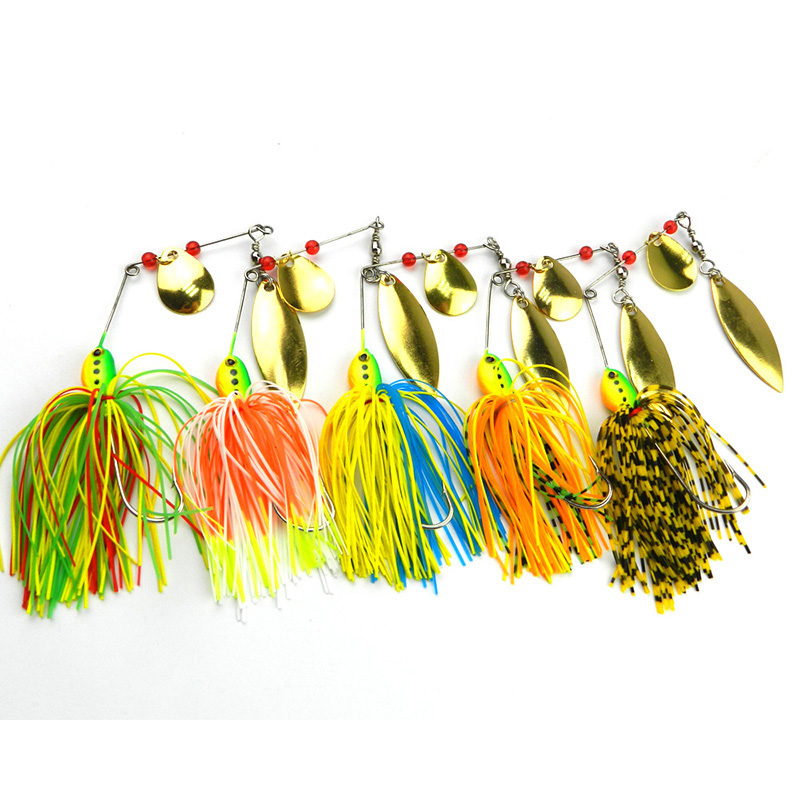 Hot Selling 1Pcs/Lot 3D Eyes Rotating Fish-type Sequined Beard Lures Noisy Bait Buzz Composite baits Target Catfish Bas WQ47