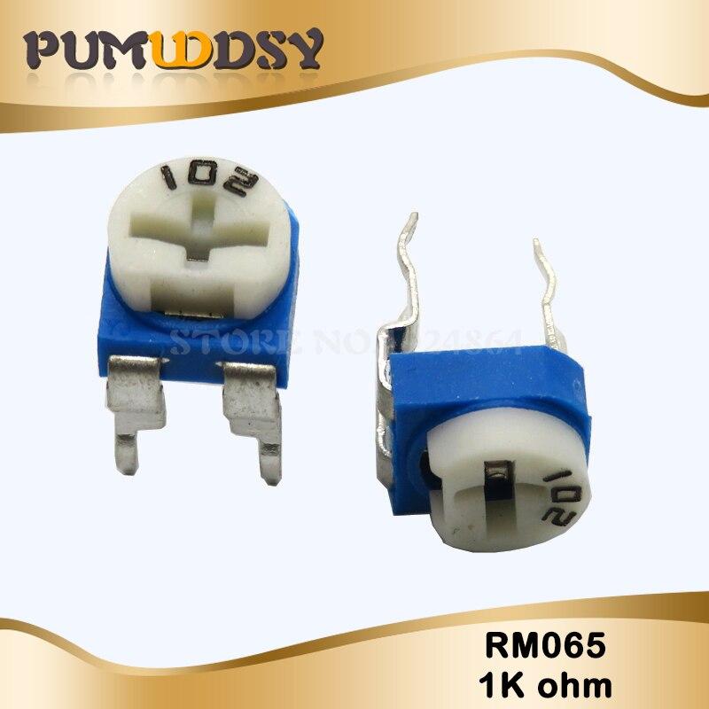 20PCS RM065 RM-065 1K Ohm 102 RM065-102 Trimpot Trimmer Potentiometer Variable Resistor