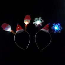 Cartoon Flashing Christmas Headband Lighting Snowman Head Hoop Woman Dress Party Christmas Birthday Party Supplies
