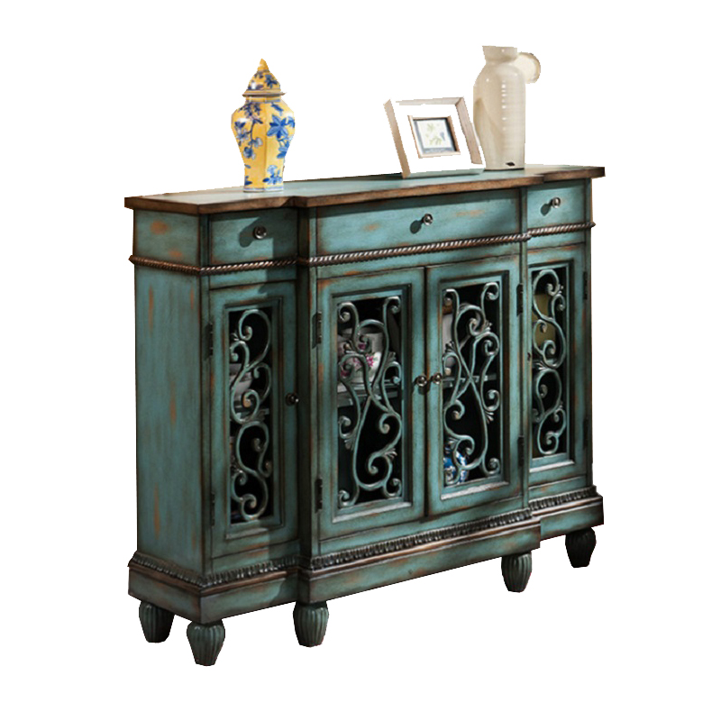The American style makes the old gateway cabinet the Mediterranean solid wood retro meal side cabinet holdsThe American style makes the old gateway cabinet the Mediterranean solid wood retro meal side cabinet holds
