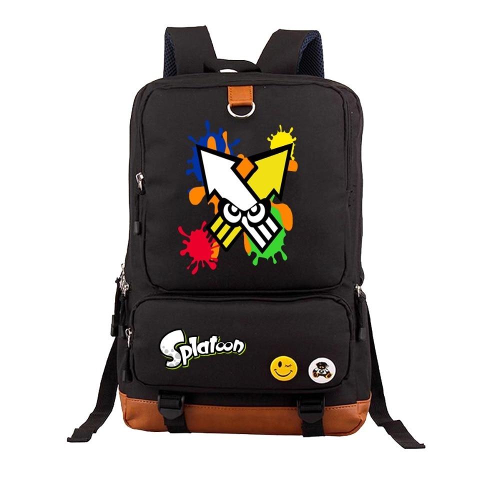 Game Splatoon backpack men women Laptop Backpack Canvas Bags Travel Bag School Student Book Shoulder Bag 19 style men original leather fashion travel university college school book bag designer male backpack daypack student laptop bag 9950