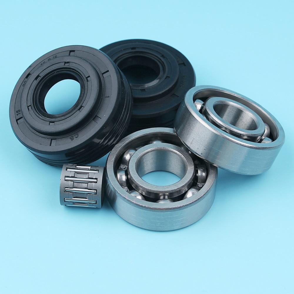 Crank Crankshaft Needle Bearing Oil Seal Set For Jonsered 2141 2145 2150 CS2141 CS2145 CS2150 Chainsaw OEM # 503932302