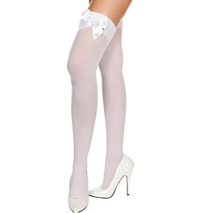 5c7b6eac0df ... Cute Bows Women s Stockings Sexy Women Thin Ribbon Knee High Socks  Woman Knee Socks Thigh High ...