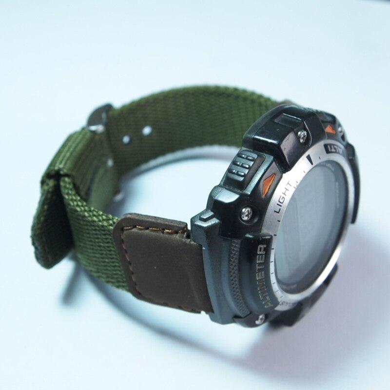 Prix pour 19mm de montre de remplacement de Courroie De bande pour CASIO SGW-300/400/AE-1000/AQ-S810 Conduite Sport nylon Bracelet