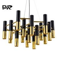 Delightfull Ike Metal Aluminum Tube Chandelier Lights Italy Modern Led Chandeliers Lighting Pendientes E14 Lamp AC 90 260V Sale