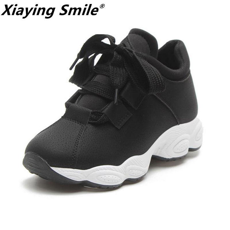 Xiaying Smile female walking shoes with rubber sole women sports sneakers outdoor breathable footwear comfortable