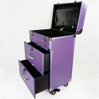 Travel trolley case Bag Multi layer Drawer Makeup Box Beauty Removable Professional Suitcase Aluminum Frame Wheels Luggage Bags