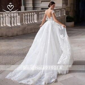 Image 2 - Wedding Dress 2 In 1 Mermaid Detachable Train Appliques Sweetheart Bridal Gown Princess Swanskirt K149 Vestido de novia
