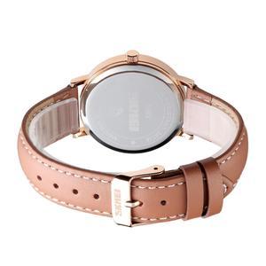 Image 3 - SKMEI แฟชั่นผู้หญิงนาฬิกาสายรัดข้อมือหนังหญิง 3bar กันน้ำควอตซ์นาฬิกาผู้หญิงนาฬิกาข้อมือ relogio feminino 1463
