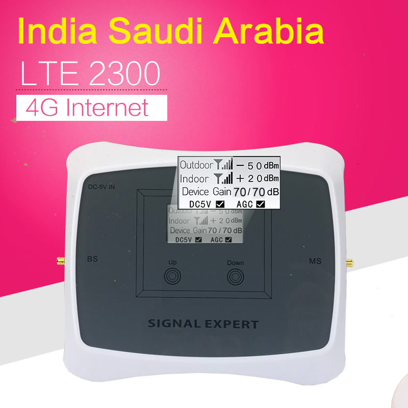 India Smart 4G TDD LTE 2300 Cellphone Signal Booster 2300mhz Band 40 Mobile Phone Signal Repeater Cellular Amplifier Extender
