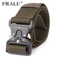 FRALU 2017 Hot Mens Tactical Belt Military Nylon Belt Outdoor Multifunctional Training Belt High Quality Strap