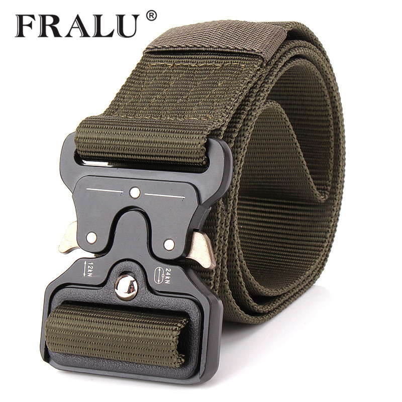 Fralu 2017 Hot Mens Tactical Belt Military Nylon Belt