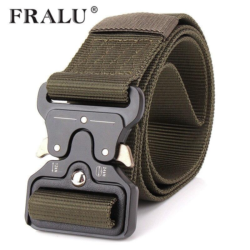 FRALU 2018 Hot Mens Tactical Belt Military Nylon Belt Outdoor multifunctional Training Belt High Quality Strap ceintures