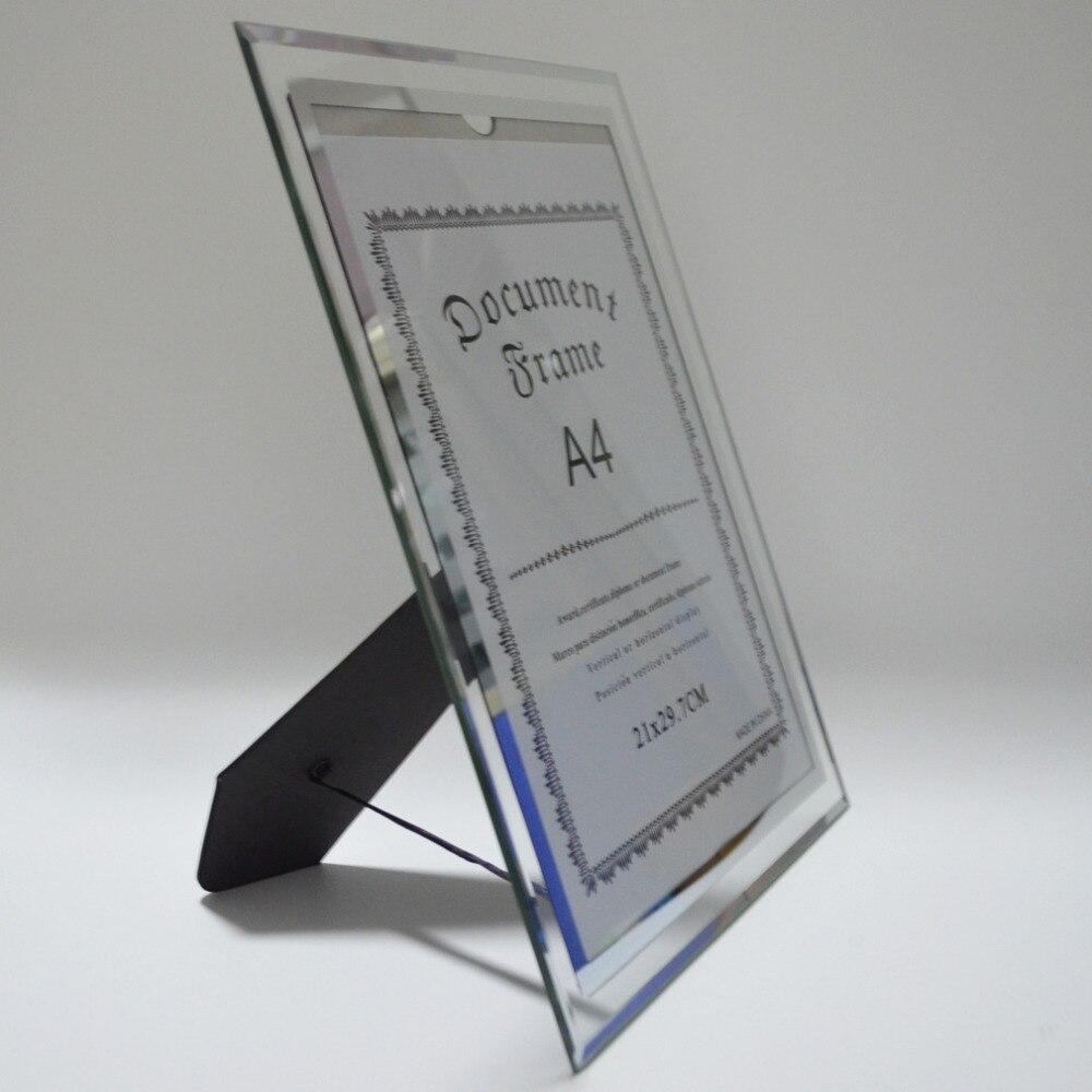 Giftgarden A4 Glas Dokument Rahmen Tabletop Zertifikat Rahmen Büro ...
