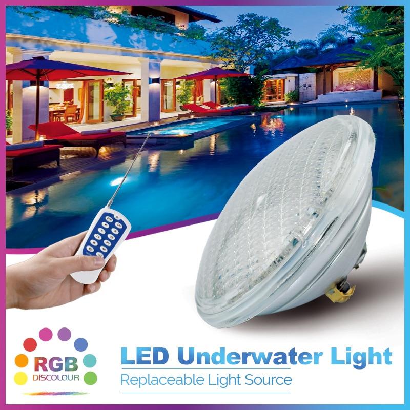 Par 56 swimming pool light LED IP 68 underwater 35W AC/DC 12V voltage RGB color changing remote control Iluminación piscinas