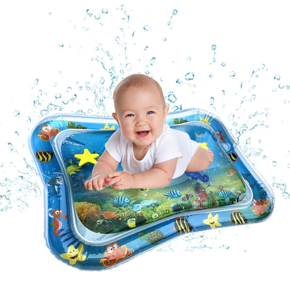 Baby Kids Water Play Mats Inflatable Infants Tummy Time Playmat Toys Fun Activity Carpet Hand Eye Coordination For Children