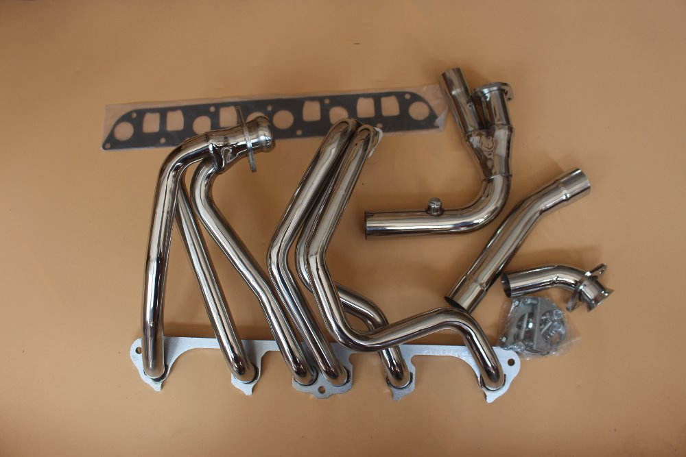 exhaust manifold header system for 91 99 jeep wrangler yj 4 0l 6 cyl stainless