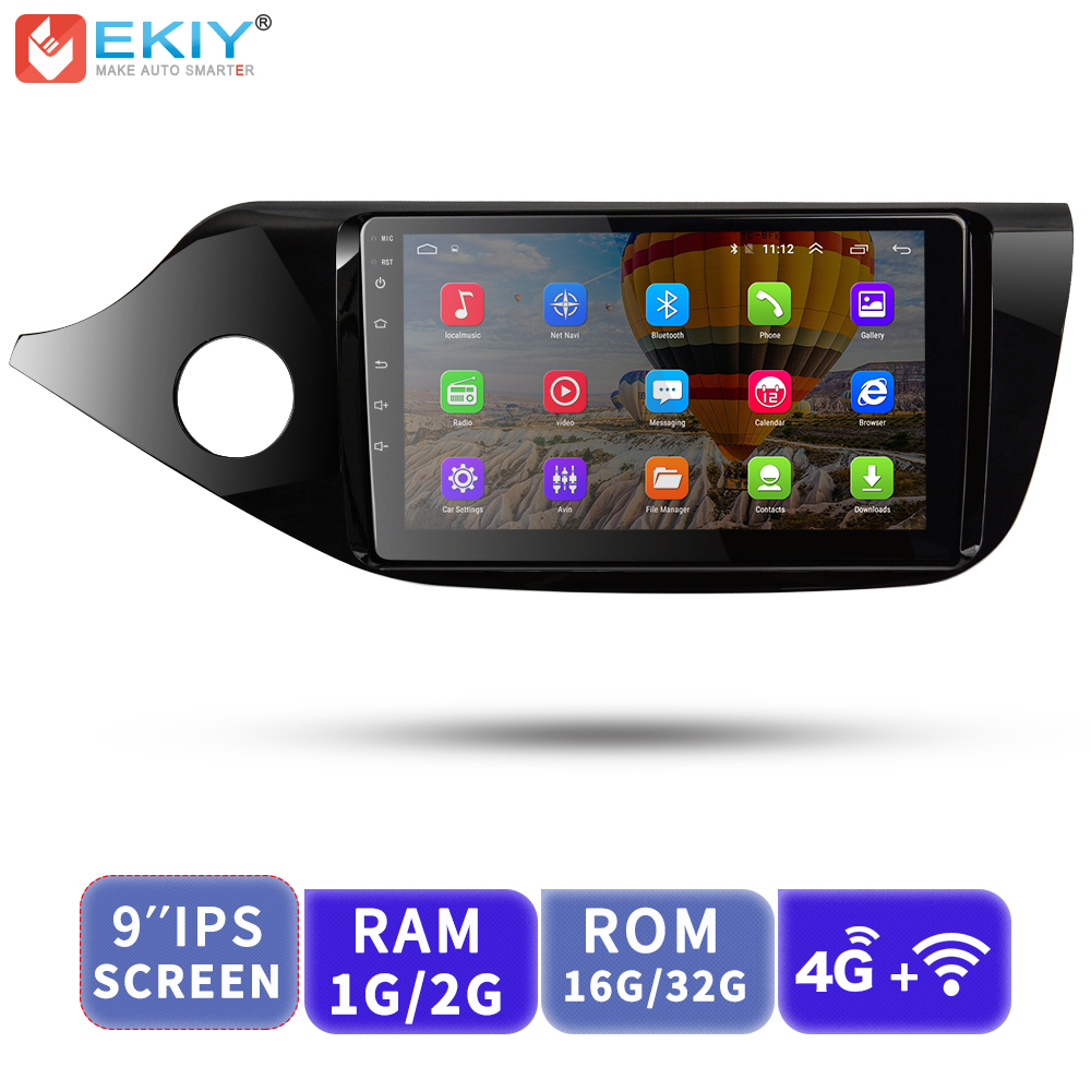 EKIY 9' IPS Car Multimedia Player Android No 2 Din AutoRadio Video For Kia Ceed 2013 2014 2015 2016 GPS Navigation With 4G Modem image