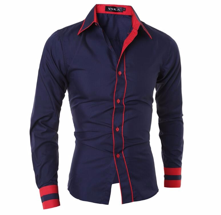 Men Shirt 17 Fashion Brand Men'S Cuff Striped Long-Sleeved Shirt Male Camisa Masculina Casual Slim Chemise Homme XXL SHDWQ 10
