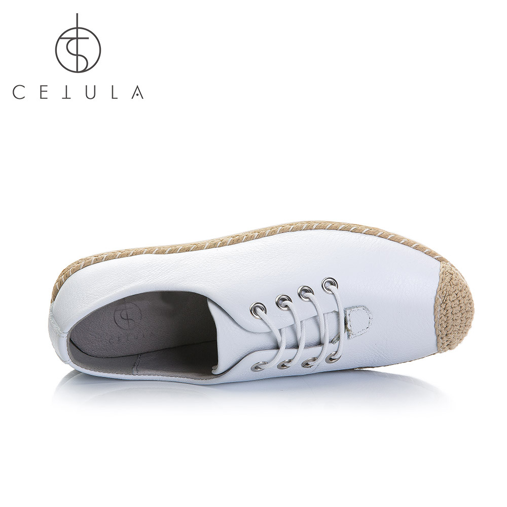 Cetula 2018 S / S Handgjorda Lace Up Women Smooth Calf Leather Linned - Damskor - Foto 4