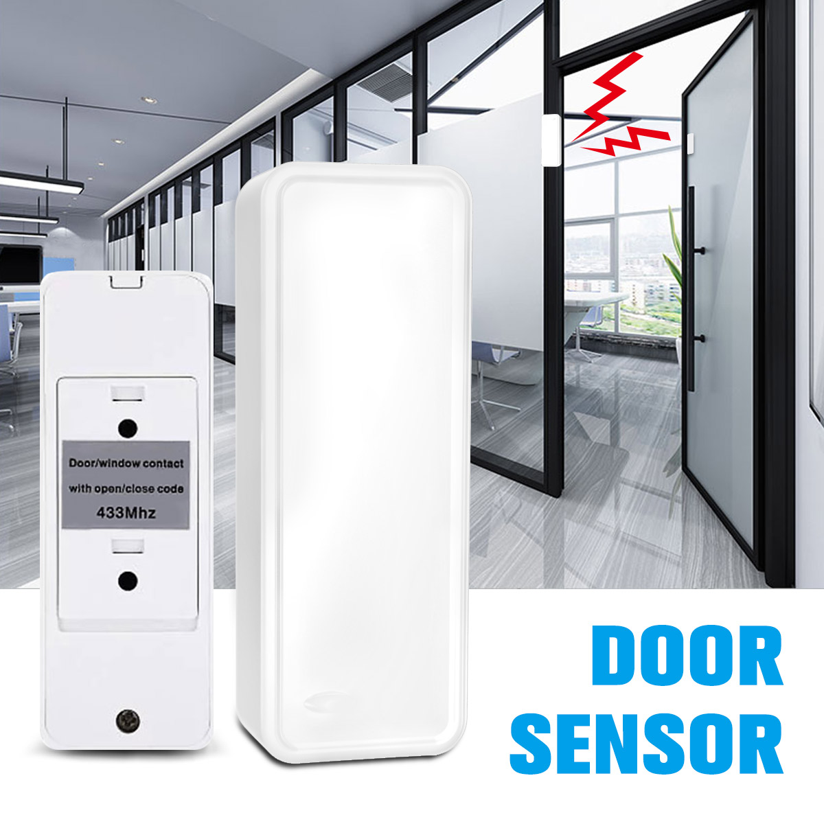 Wireless Door And Window Sensor Home Security Alarm System Magnetic Strip Office Sensor Two Series 120DB 433MHz