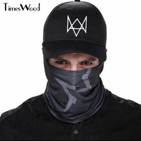 2 Pieces Set Watch Dogs Aiden Pearce Face MASK Cap Cotton Hat Set Costume Cosplay Mask