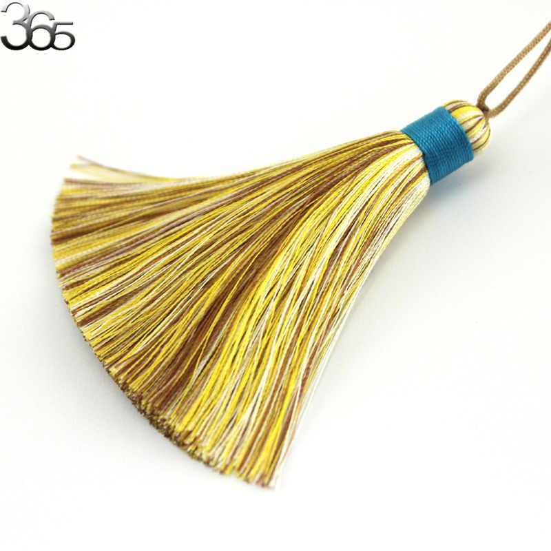 11x68mm Wholesale Genuine Silk Tassel Fringe Chinese knot Craft Pendant