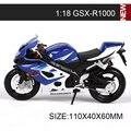 SZK Modelos de Motocicletas GSXR1000 moto modelo escala 1:18 Aleación modelo de la motocicleta motor bike miniatura Juguete raza Para la Colección de Regalos