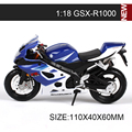 SZK Motorcycle Models GSXR1000 model bike 1:18 scale Alloy motorcycle model motor bike miniature race Toy For Gift Collection