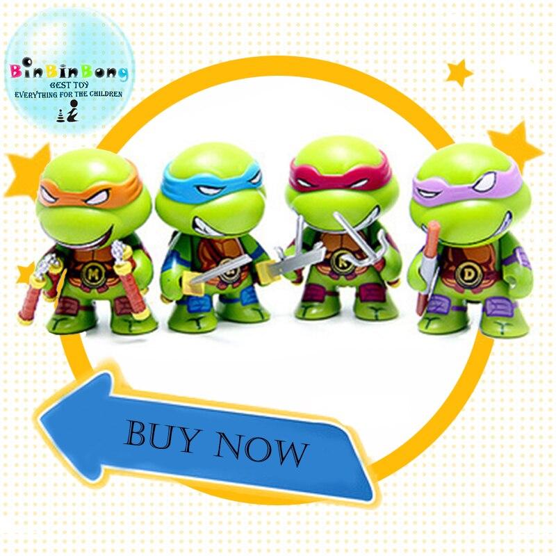 4pcs/set Ninjaed God Turtle Ninjas Figurines Figure Action Cartoon Turtle Figures Action Kids Room Decoration Toys For Children